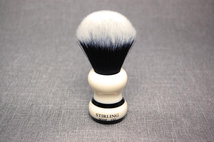 24mm Synthetic Black Stripe Shave Brush