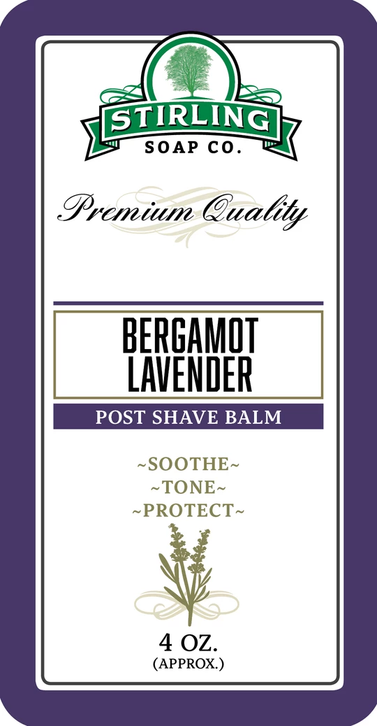 Bergamot Lavender Post Shave Balm