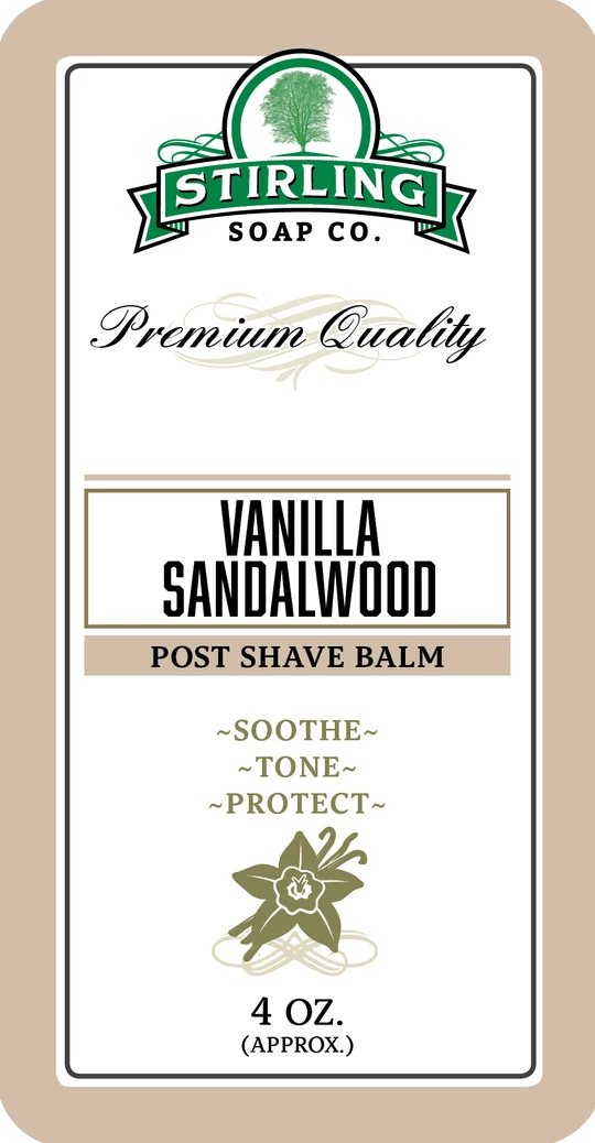 Vanilla Sandalwood Post Shave Balm