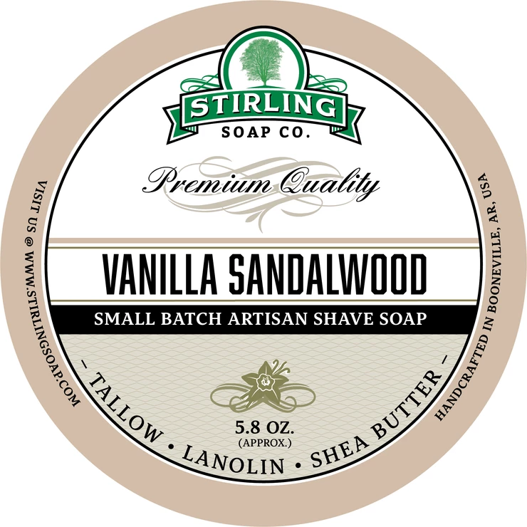 Vanilla Sandalwood Shaving Soap