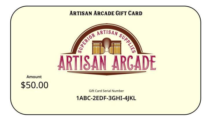 Artisan Arcade Gift Card