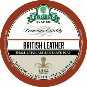 British Leather Shaving Soap