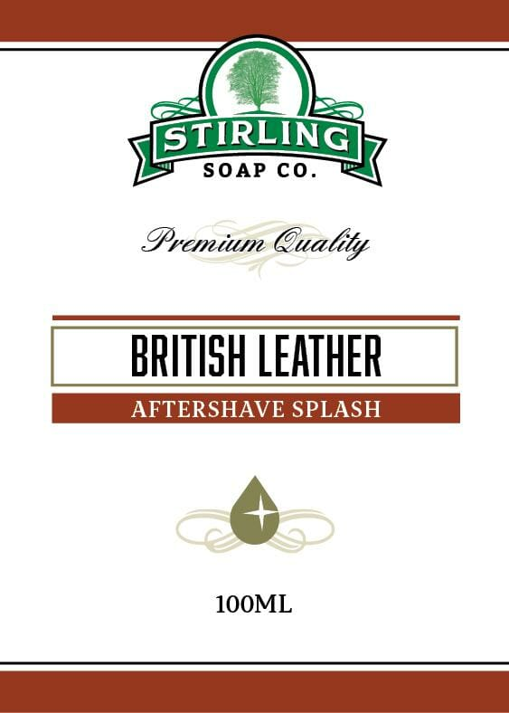 British Leather Aftershave Splash