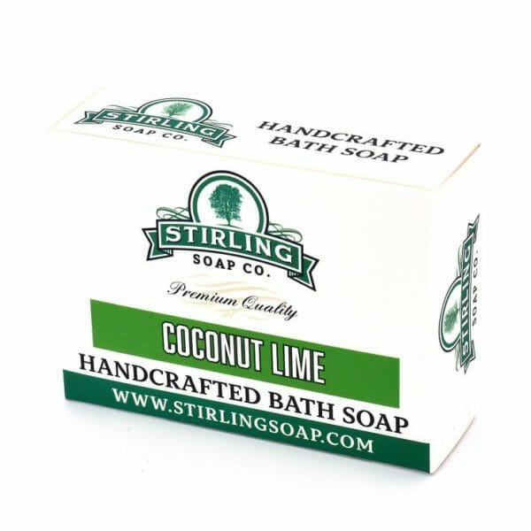 Image of coconut lime bath soap